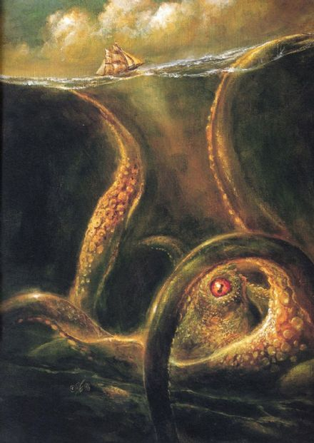 Norse Myths: Kraken. Sea Monster Art Print/Poster. Sizes: A4/A3/A2/A1 (00392)